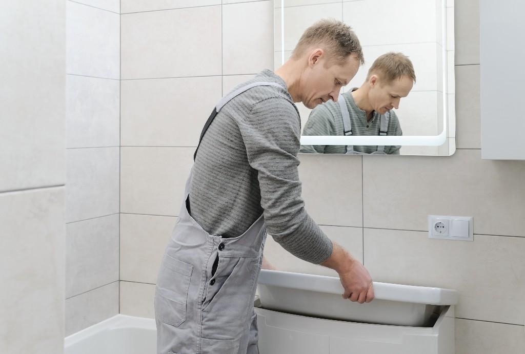pose de vasque de salle de bain près de Paris 15e | Aux Bâtisseurs Parisiens